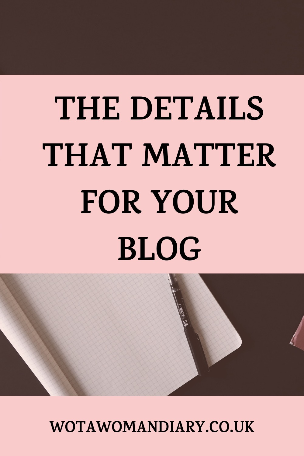 text image with the details that matter for your blog text in bold font