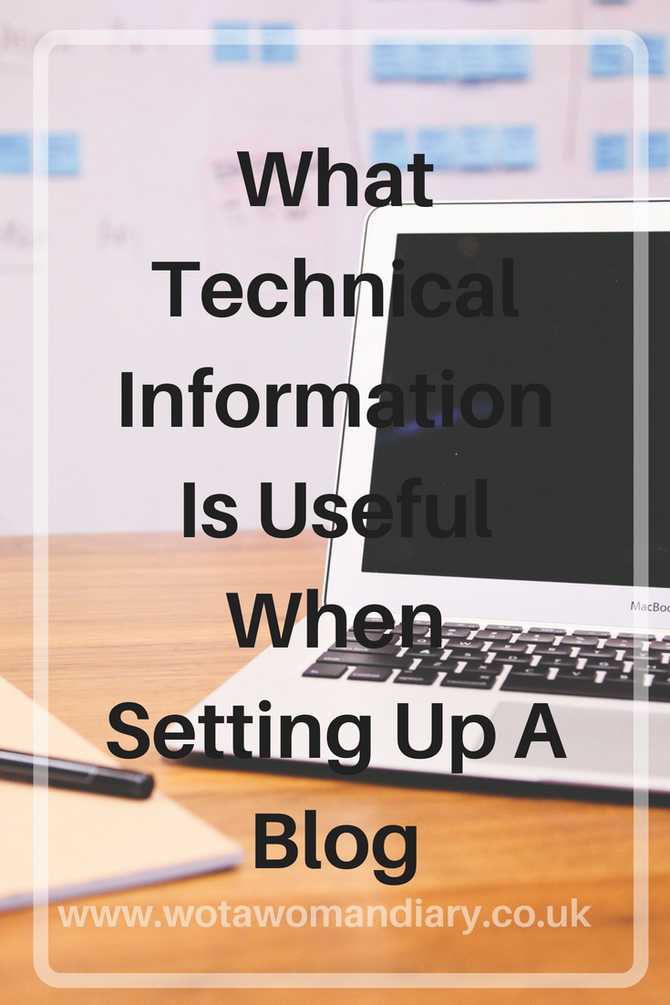 What Technical Information Is Useful When Setting Up A Blog