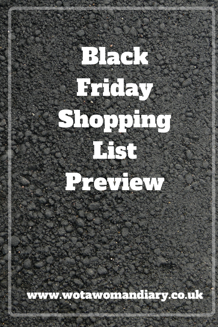 Black Friday Shopping List Preview