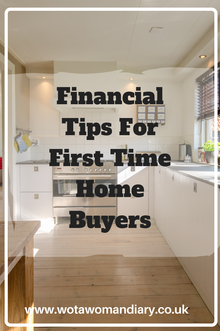 Financial Tips For First Time Home Buyers Text Image