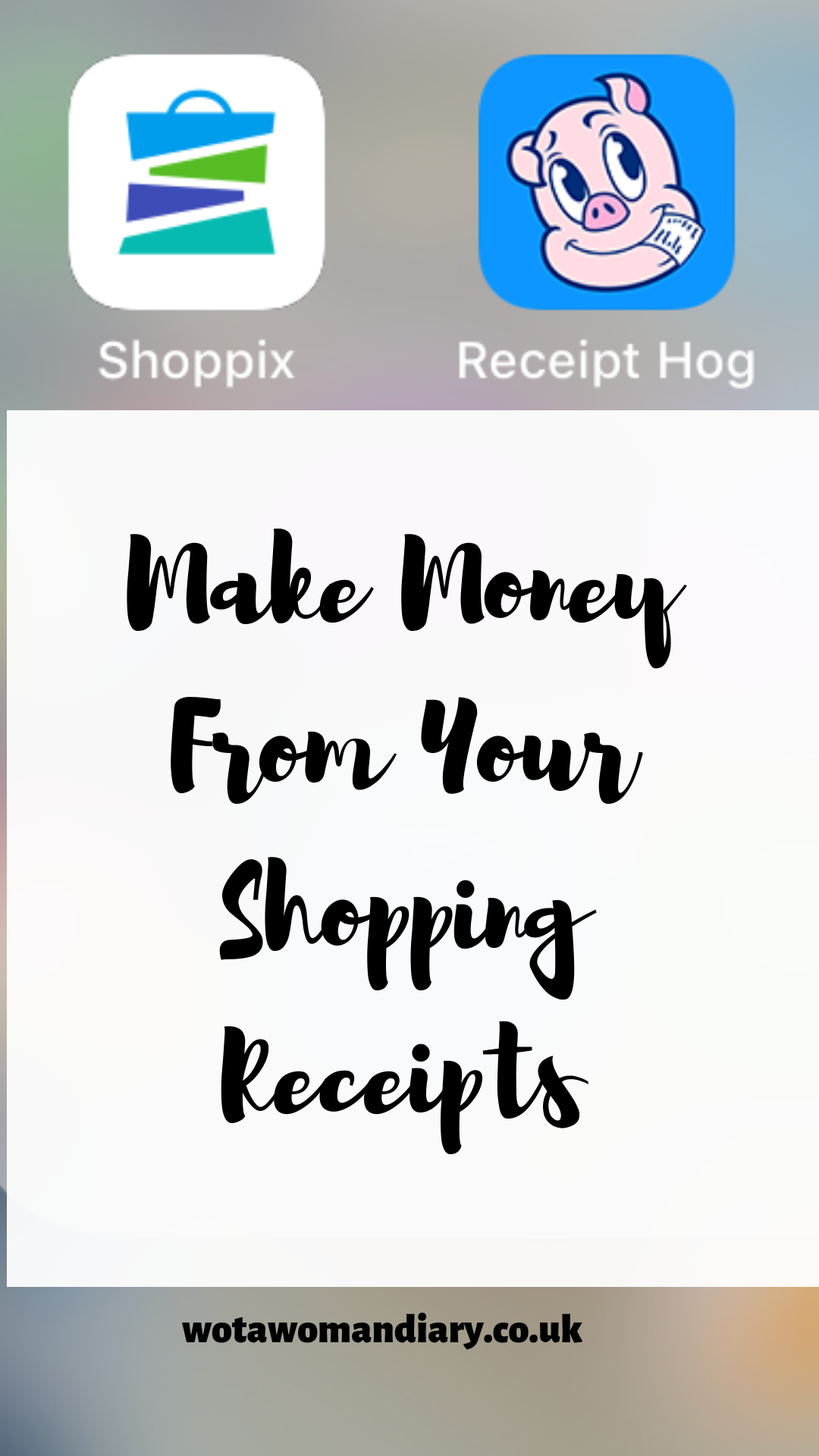 make money from shopping receipts