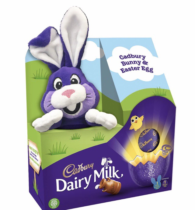 Cadburys bunny and easter egg