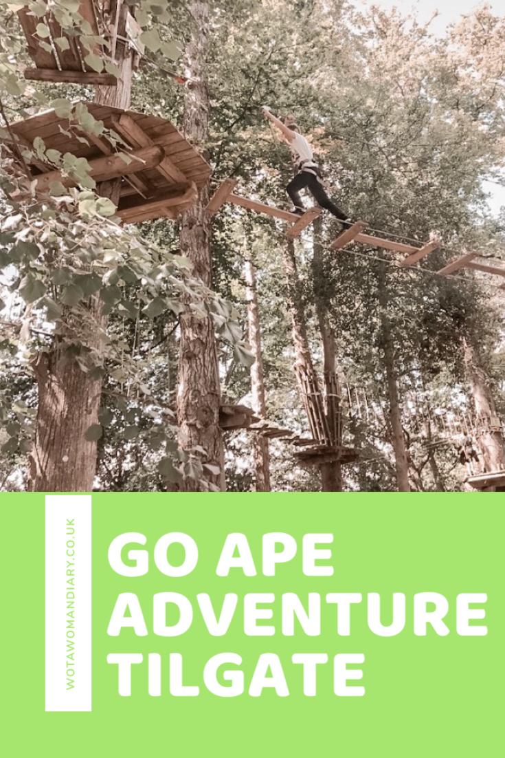 go ape adventures tilgate text image