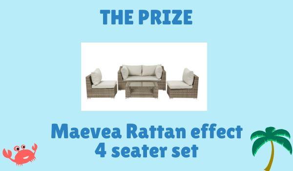 Rattan effect seating area