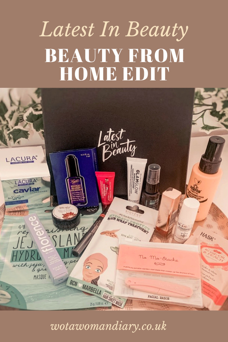 text image lates in beauty beauty from home edit with products