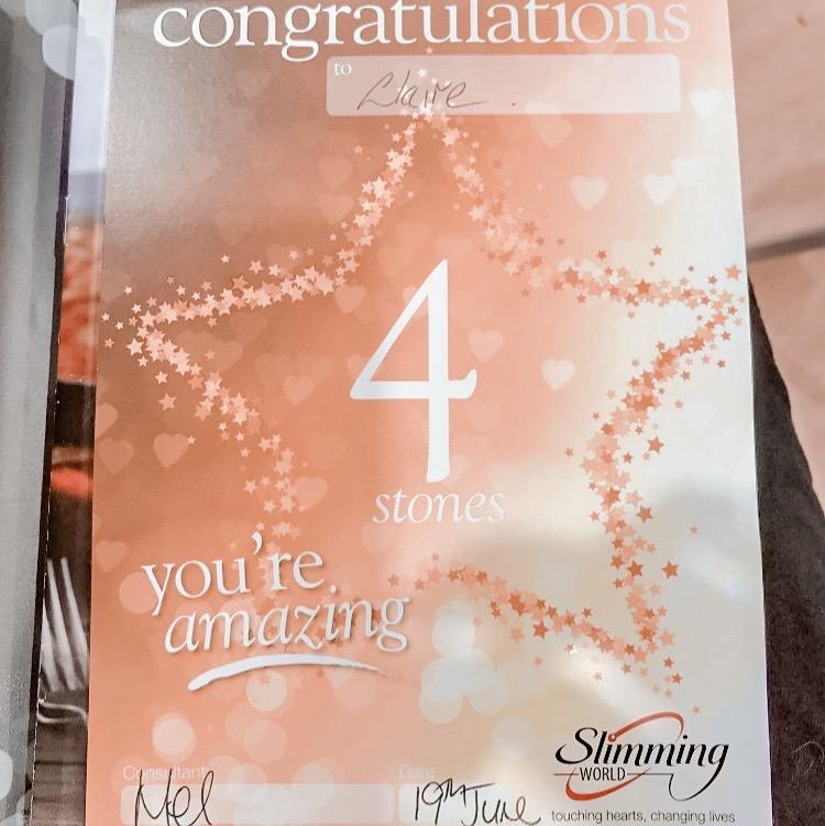4 stone slimming world certificate