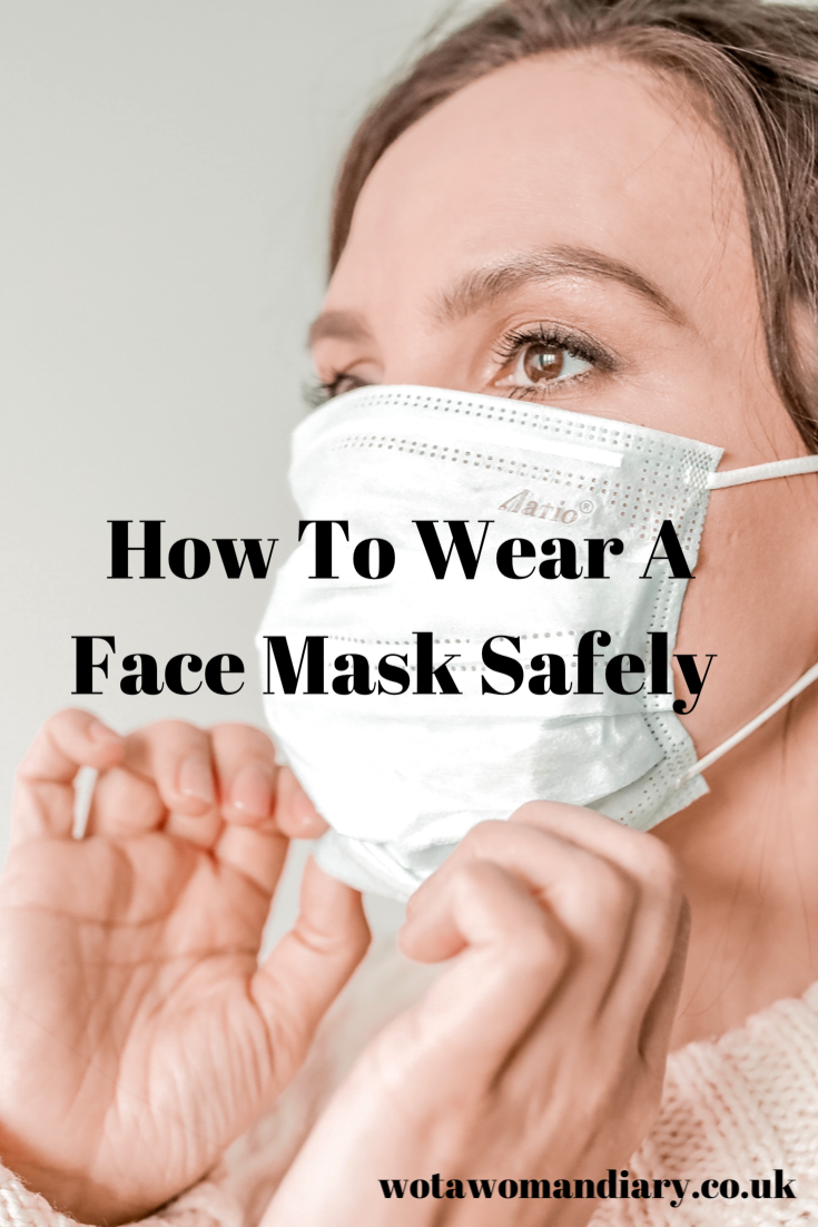 How to wear a face mask safely text image