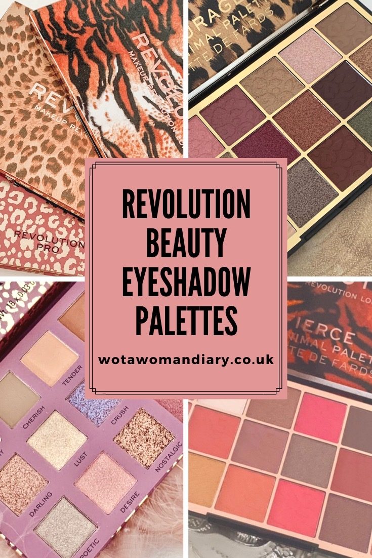text image for revolution beauty eyeshadow palettes