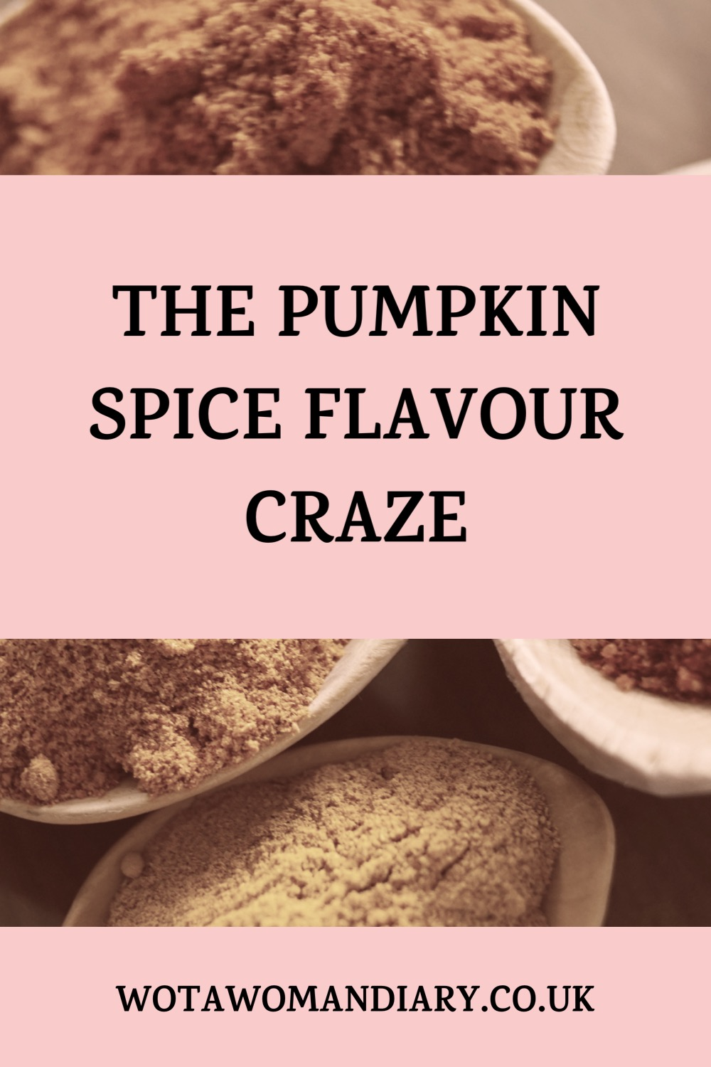 text image which reads the pumpkin spice flavour craze